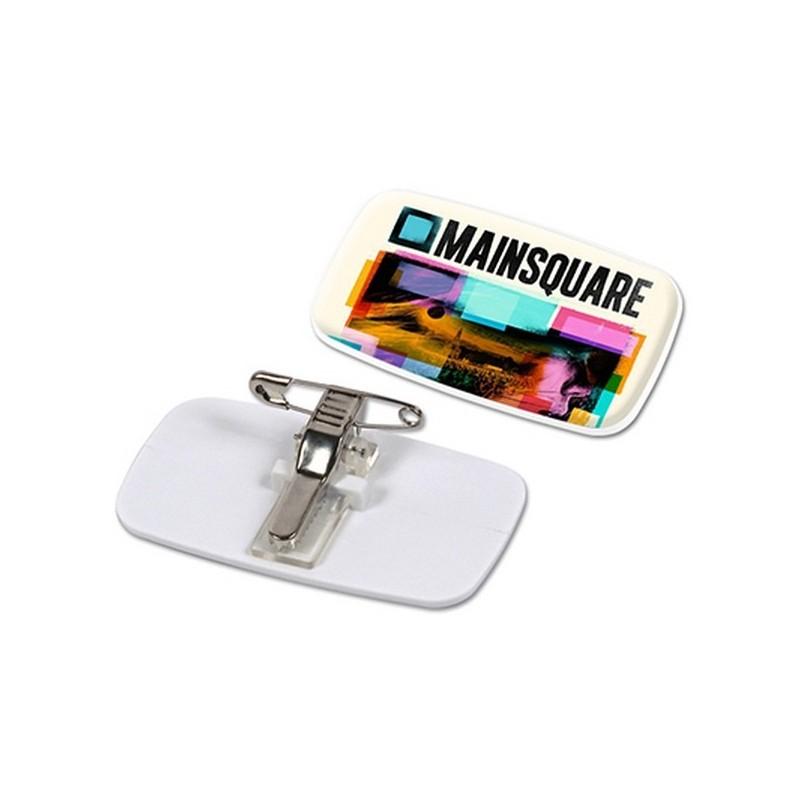 Badge pince-epingle pour quadridome à prix grossiste - Badge à prix de gros