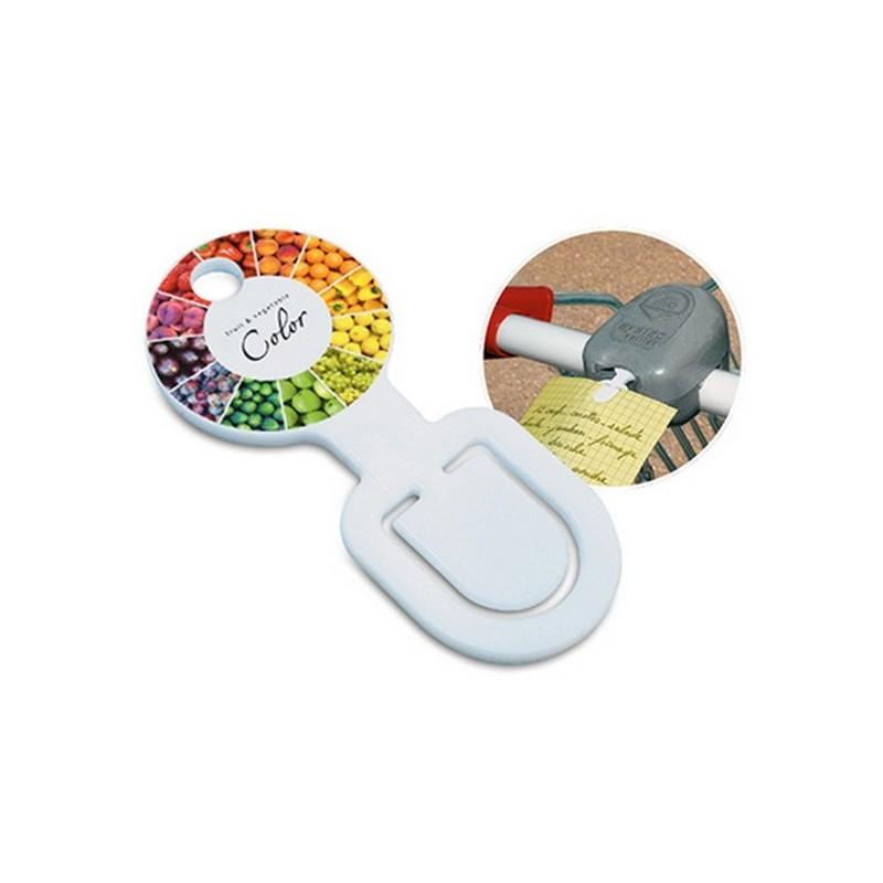 Clipcourse - jeton consigne - Clip à papier / porte memo à prix grossiste
