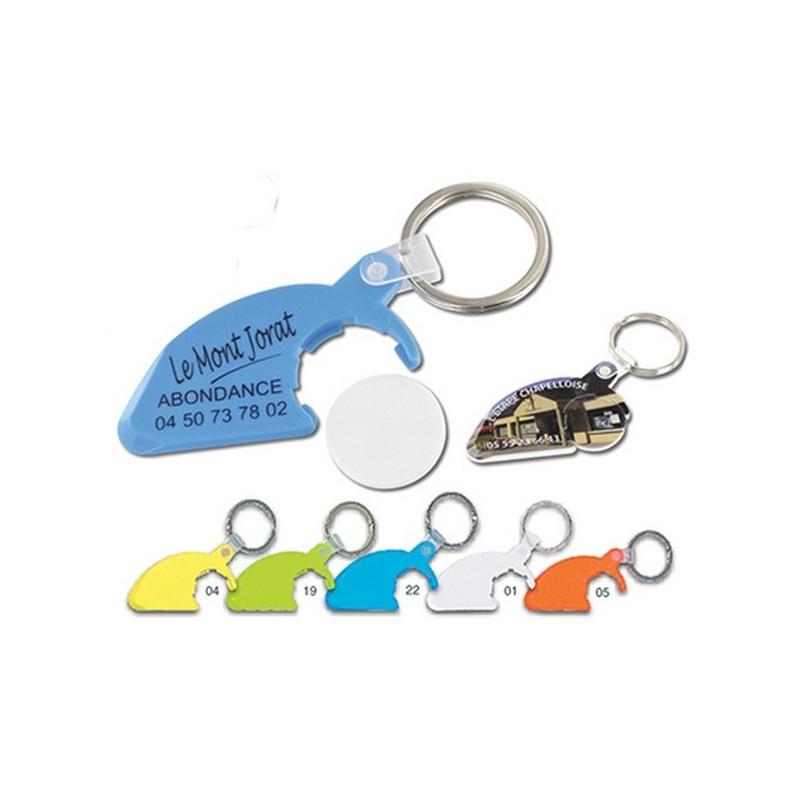 Porte-cles porte-jeton gratte-jeux anneau 25 mm - Porte-clés jeton à prix grossiste