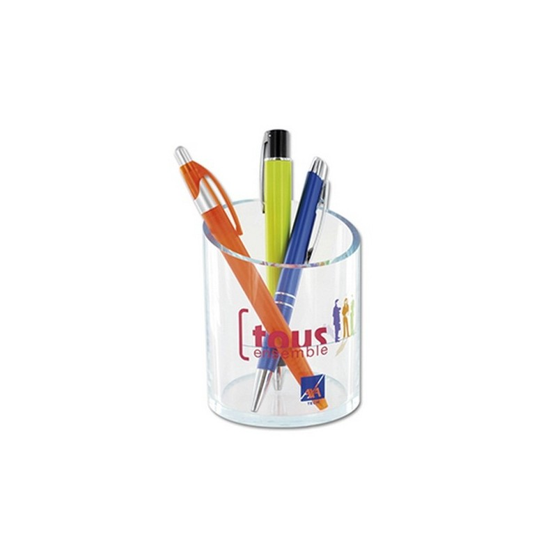 Pot a crayon pmma transparent - Pot à crayons à prix grossiste