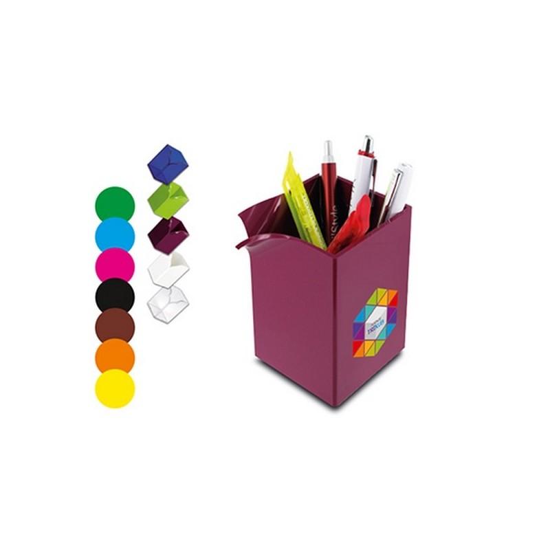 Pot a crayons 75x75x104mm à prix de gros - Pot à crayons à prix grossiste