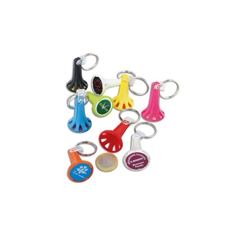 Porte cles porte jeton avec jeton anneau 25 mm à prix de gros - Porte-clés jeton à prix grossiste