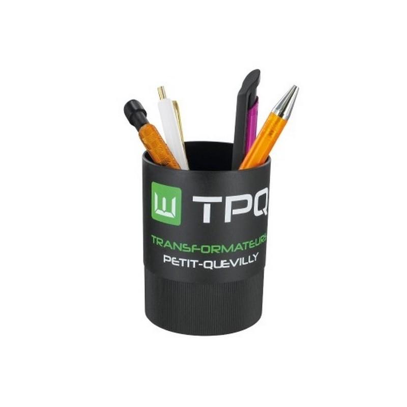 Pot à crayons en plastique recyclé - Pot à crayons à prix grossiste