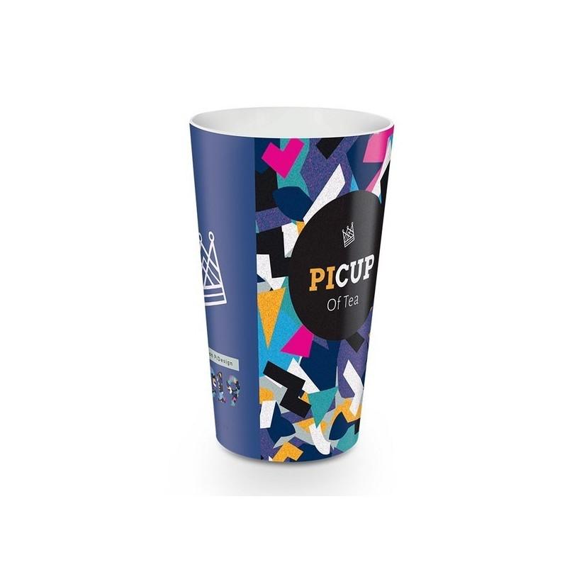 Gobelet plastique reutilisable 30 cl avec decor quadri in-mold à prix grossiste - Gobelet à prix de gros