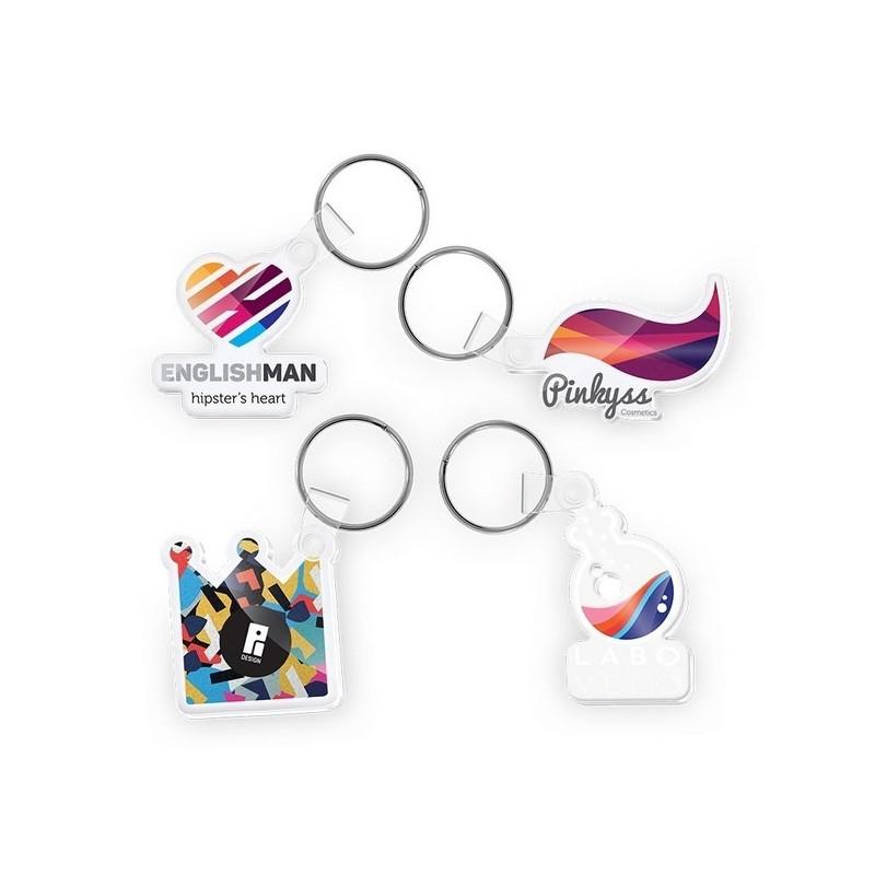 Porte cle creation pmma imprime quadri maxi 20 cm2 - Porte-clés plastique à prix de gros