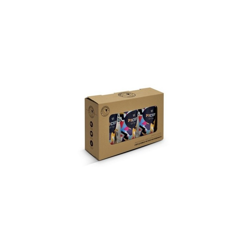 BOITE CARTON AVEC FENETRE POUR 3 OU 6 PICUP30 - Boîte cadeau à prix grossiste