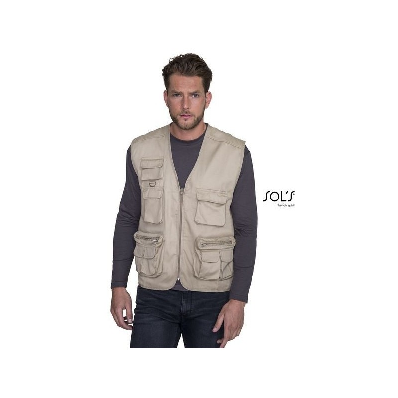 Gilet reporter multipoches - WILD - Gilet à prix grossiste