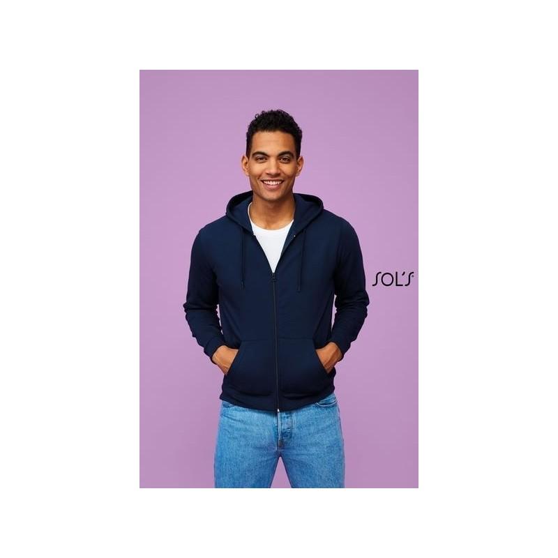 Veste zippée à capuche unisexe - STONE Blanc - 3XL à prix de gros - Sweat-shirt à prix grossiste