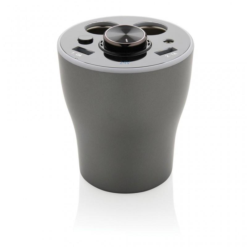 Chargeur de voiture avec oreillette sans fil - Prise allume-cigare à prix grossiste