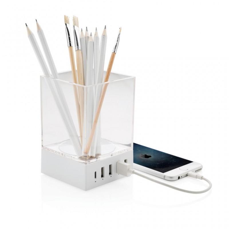 Porte-crayon chargeur USB - Pot à crayons à prix de gros