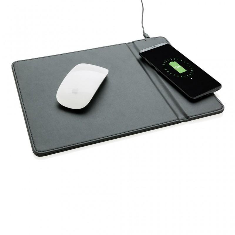 Tapis de souris avec chargeur à induction 5W à prix de gros - Support téléphone à prix grossiste