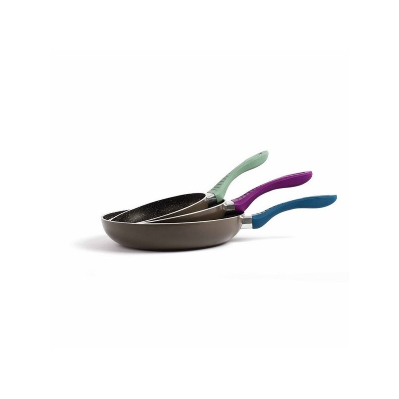 LIVOO - Set de 3 poêles aspect pierre ILAG® - Ustensile de cuisine à prix de gros