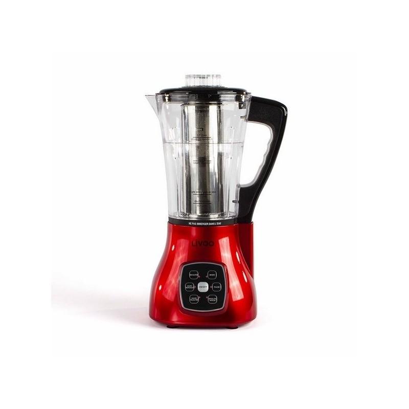 Blender chauffant multifonction rouge - Mixeur à prix de gros