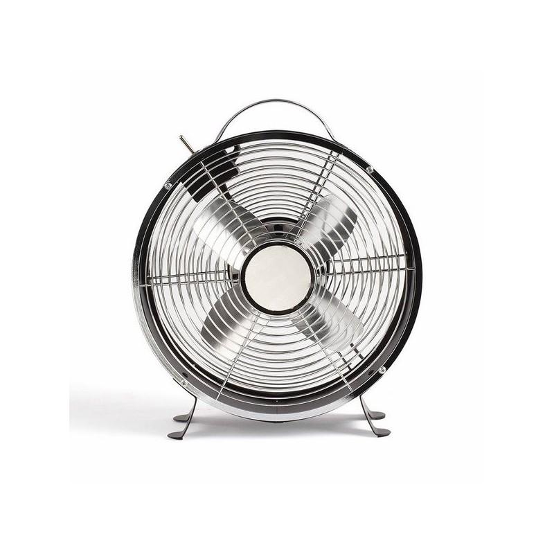 LIVOO - Ventilateur de table vintage noir à prix grossiste - Article pour la maison à prix de gros