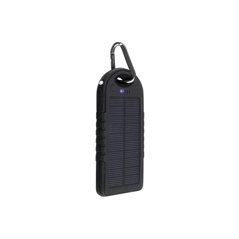 Batterie de secours solaire noir - Lampe de poche à prix grossiste