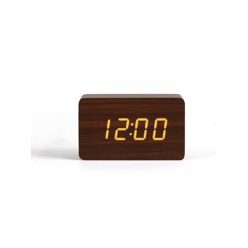 LIVOO - Horloge digitale aspect bois - Horloge à prix de gros