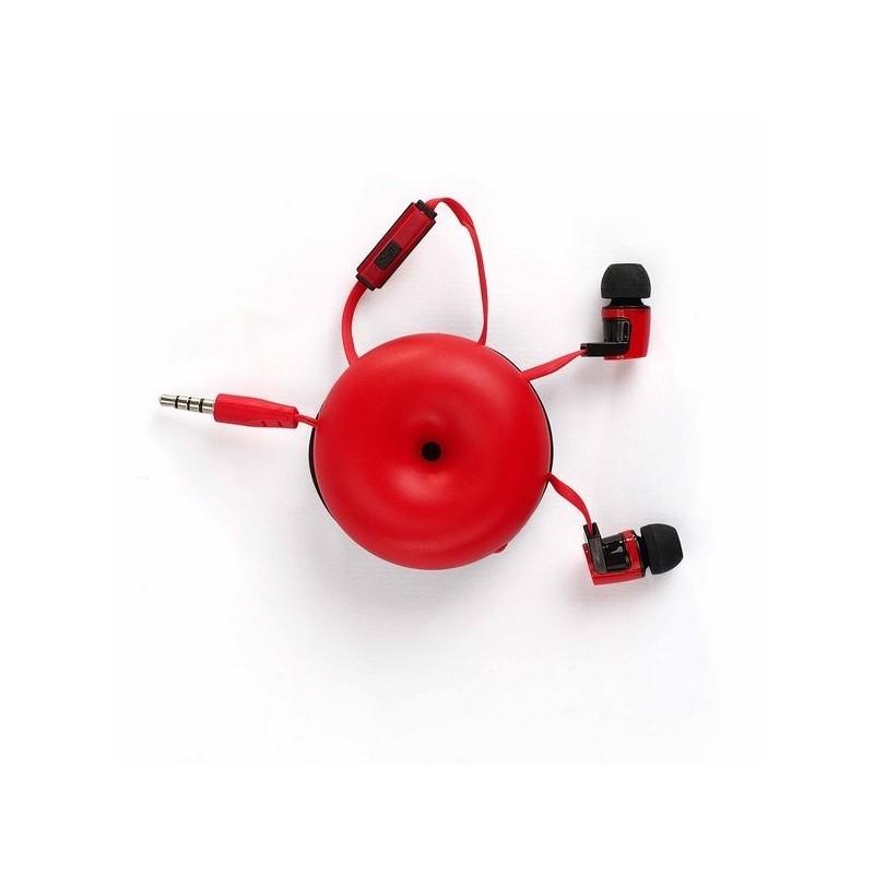 Ecouteurs rouge et noir - écouteurs filaires à prix grossiste