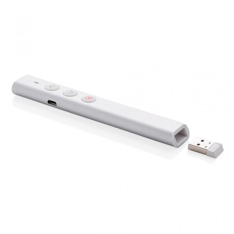 Télécommande de présentation rechargeable USB - Pointeur laser à prix grossiste