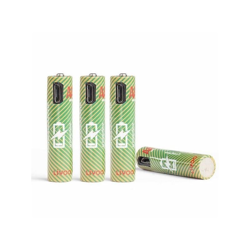 Set de 4 piles AAA rechargeables à prix de gros - Pile à prix grossiste