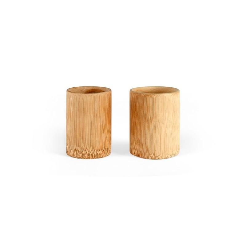 Set de 2 tasses en bambou - mug en bois à prix de gros
