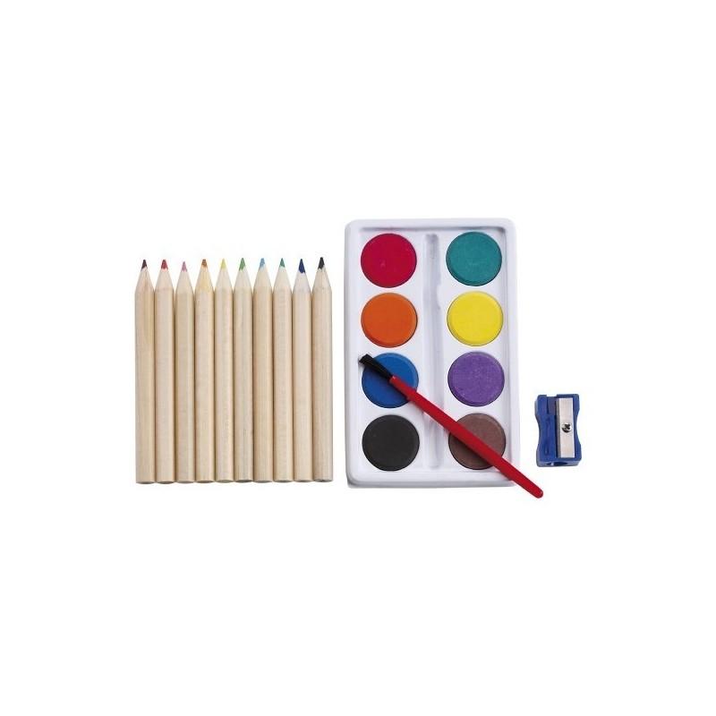 Set à dessin de 10 crayons à prix grossiste - Boîte de peinture à prix de gros