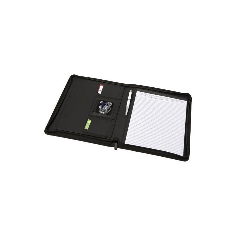 Conférencier A4 zippé en polyester - Accessoire de maroquinerie à prix grossiste