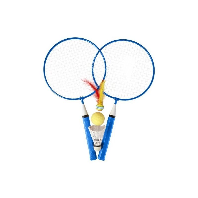 Set de 2 raquettes de badminton - Accessoire de plage à prix de gros