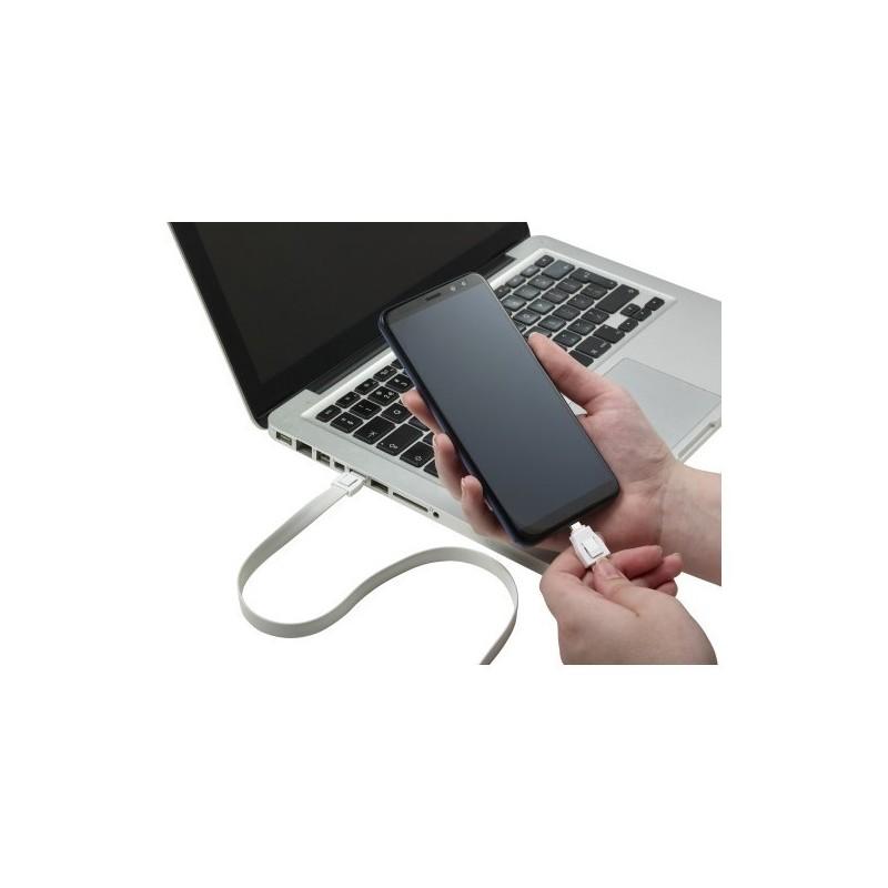 Lanyard comprenant une prise USB - Cable de charge à prix de gros