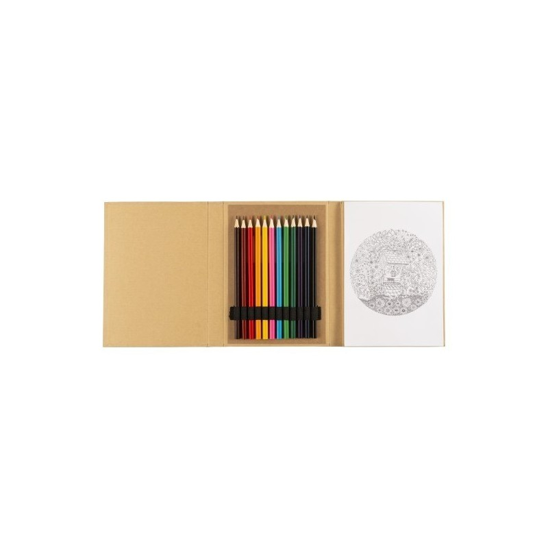Carnet cartonné de 10 dessins - Crayon de couleur à prix de gros