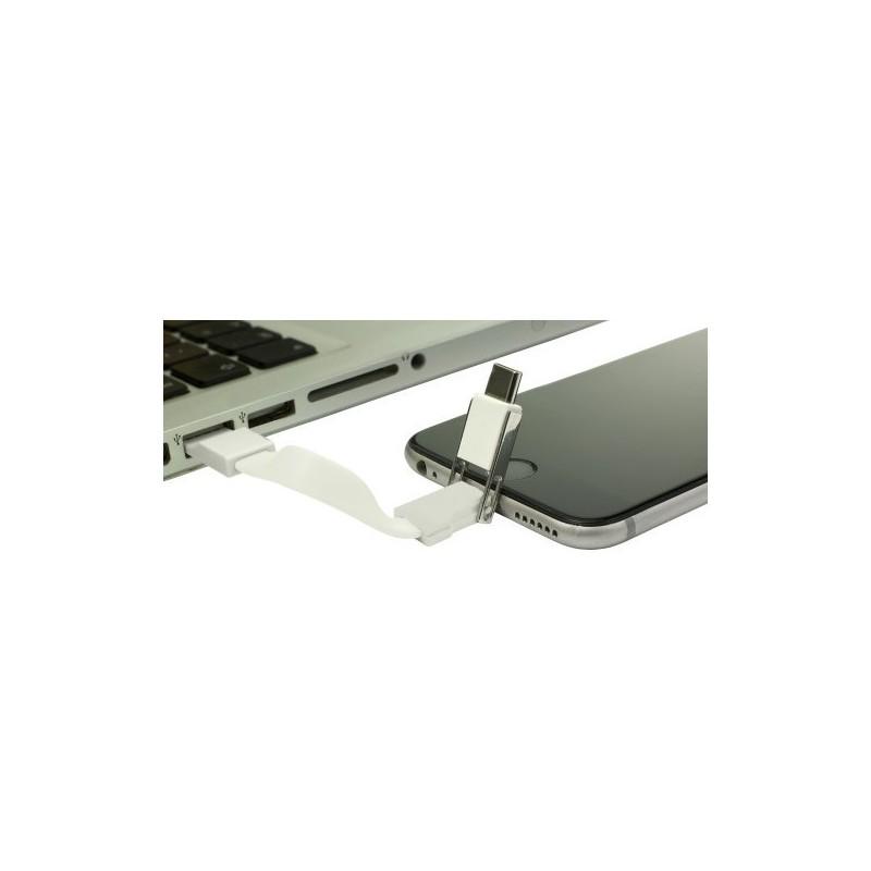 Porte-clés composé d'un câble USB - Cable de charge à prix de gros