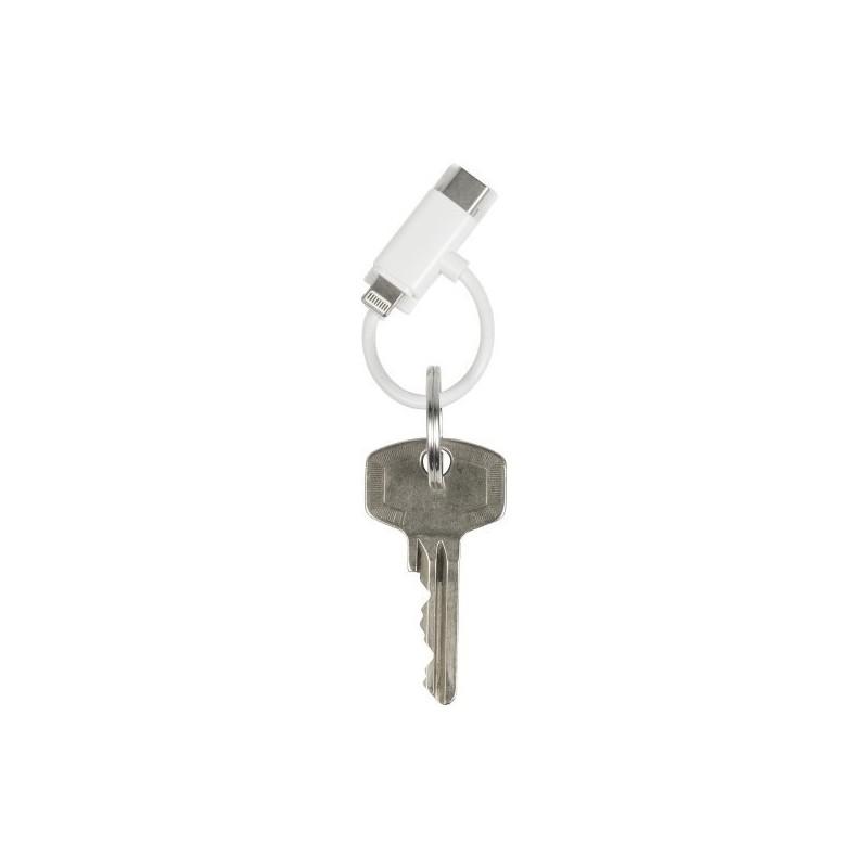 Porte-clés composé d'un câble USB - Porte-clés à prix grossiste
