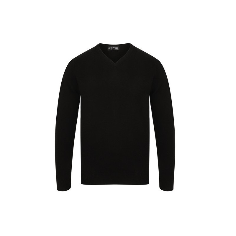 Pull Col V Lambswool - Pull col V pure laine à prix de gros - Pull homme à prix grossiste