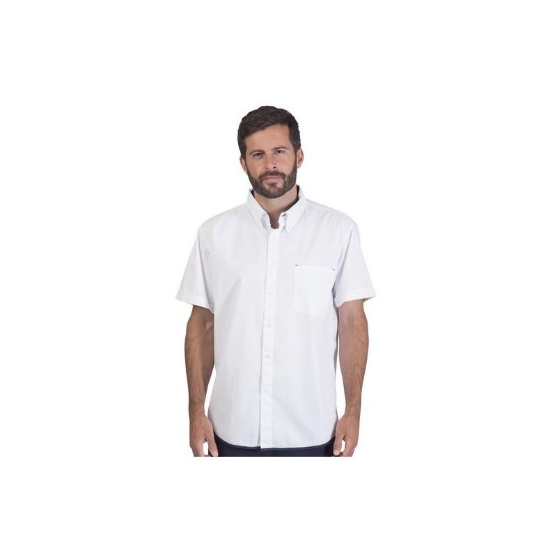 Chemisette Easy - Chemise manches courtes 100% coton - Chemise homme à prix de gros