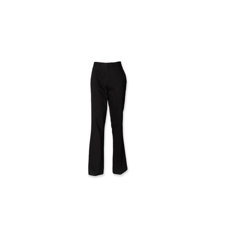 Ladies Flat Front Chino Trousers - Pantalon femme coupe droite à prix de gros - Veste polaire à prix grossiste