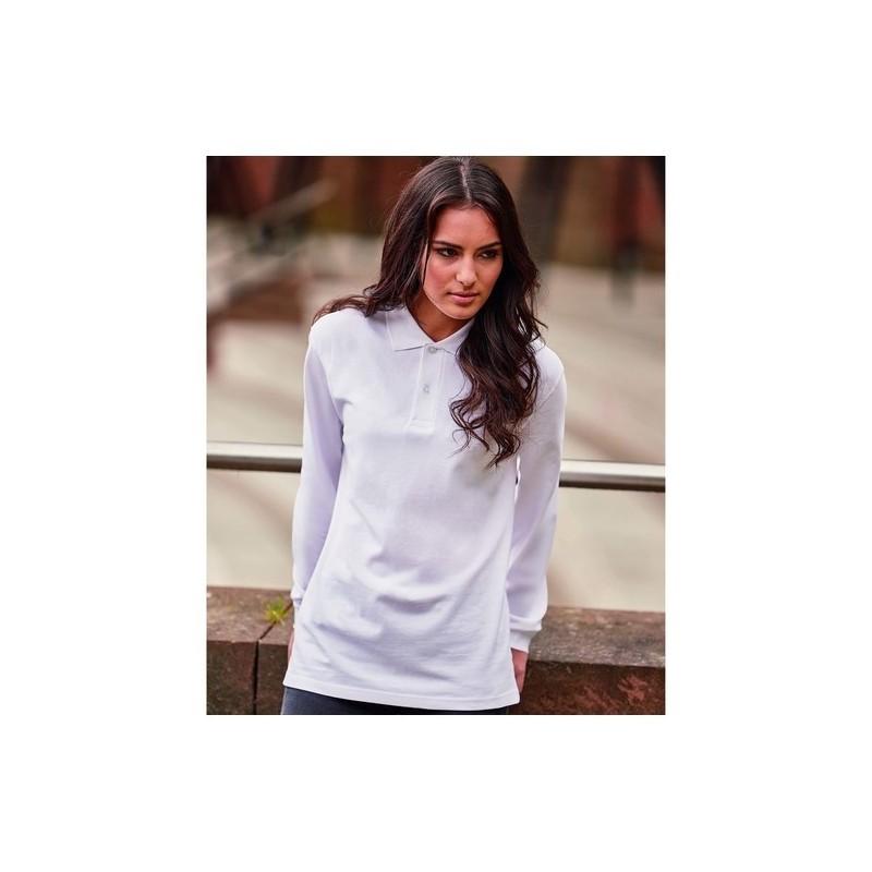 Manches Longues 569 - Polo coton 200 manches longues - Blanc - Polo manches longues à prix grossiste
