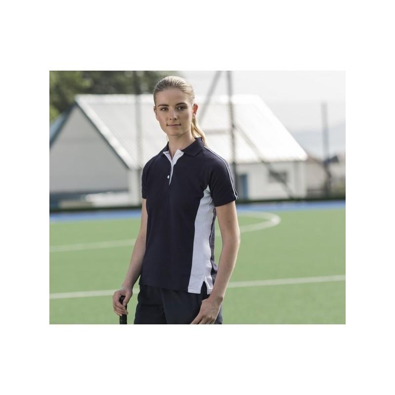 Ladies Sport Polo - Polo coton bicolore femme - Tenue de sport à prix de gros