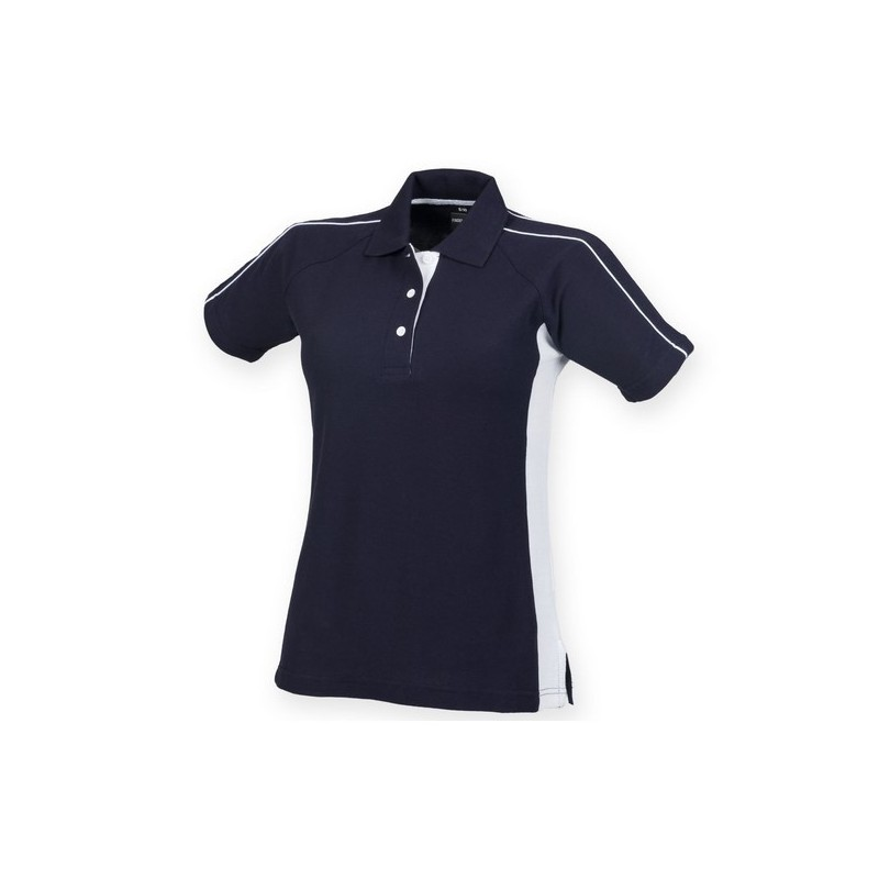 Ladies Sport Polo - Polo coton bicolore femme - Polo femme à prix de gros