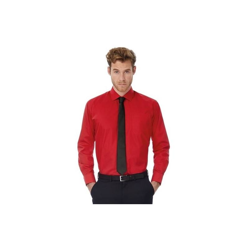 SMART LONG SLEEVES MEN - Chemise polycoton homme à prix grossiste - Chemise homme à prix de gros