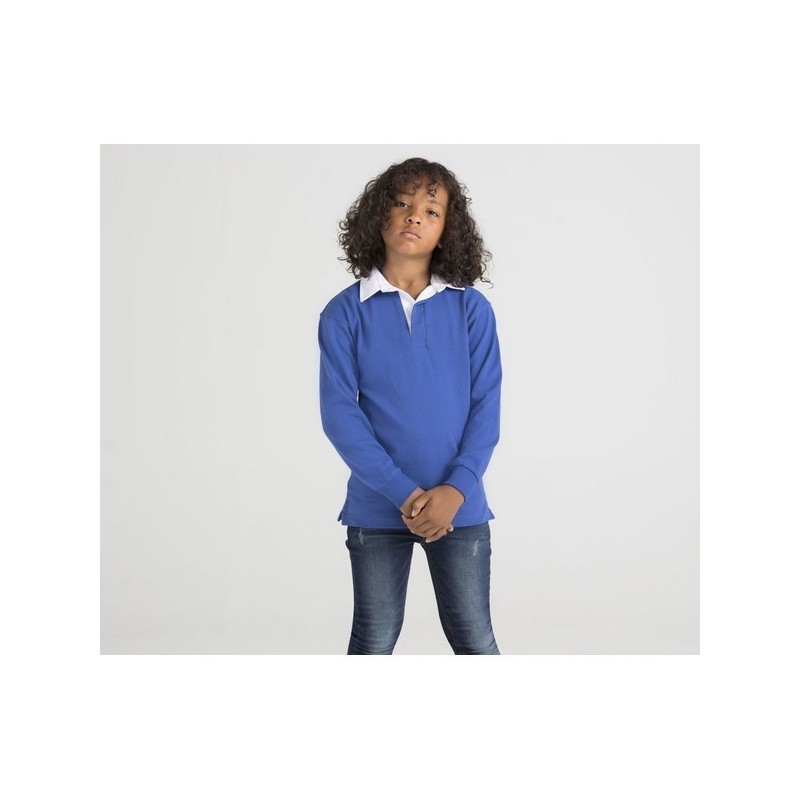 Children'S Long Sleeves Rugby Shirt - Rugby shirt enfant - Polo rugby à prix de gros
