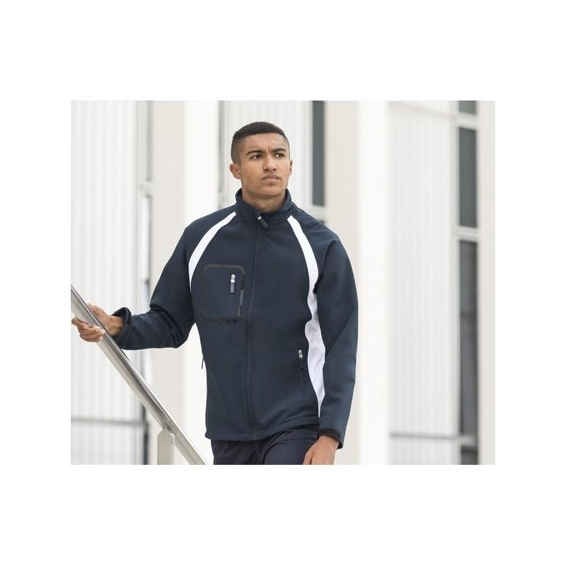 Team Soft-Shell Jacket - Veste Soft-Shell avec panneaux contrastés - Softshell à prix de gros