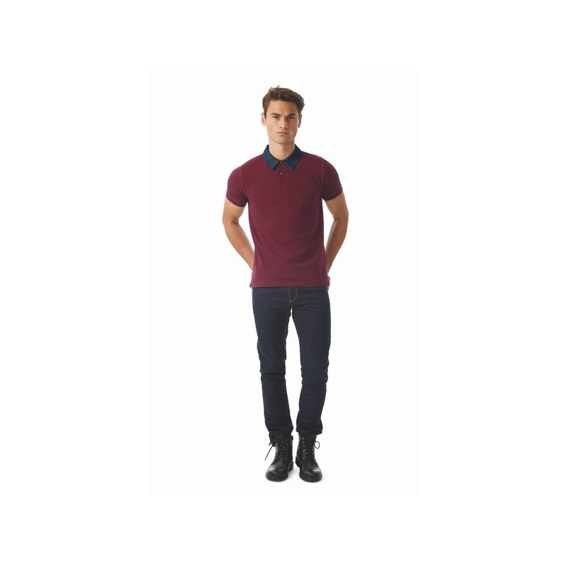 Forward Men - Polo homme 180 col denim à prix de gros - Polo rugby à prix grossiste