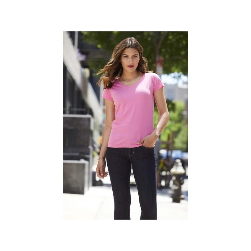 Ladies' V-Neck Tee - Tee-shirt femme col V - T-shirt femme à prix de gros