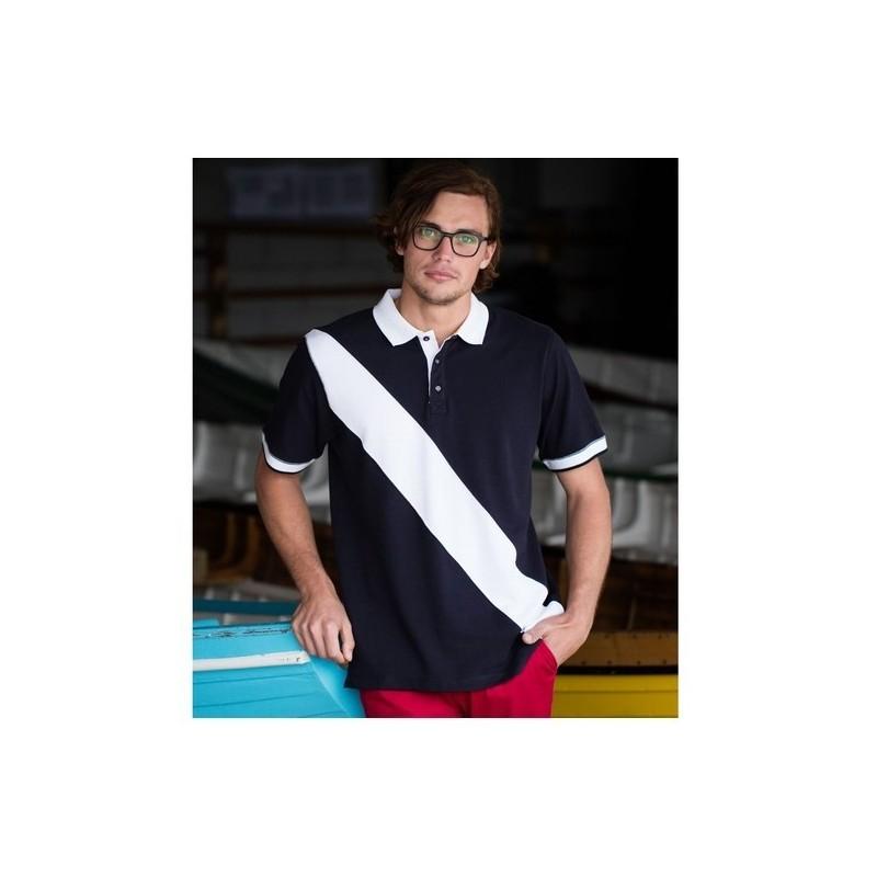 Men'S Diagonal Stripe Polo - Polo piqué homme bande diagonale à prix de gros - Polo homme à prix grossiste