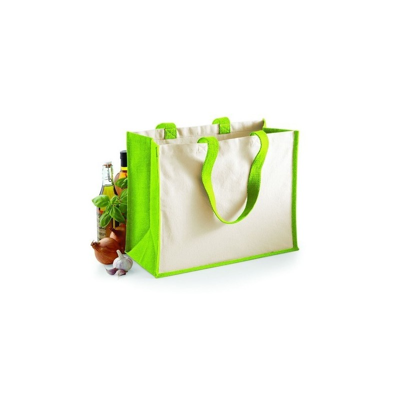 Printer'S Jute Classic Shopper - Sac shopping en toile de jute - Sac en jute à prix grossiste