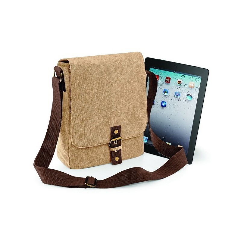 Vintage Canvas Ipad/ Tablet Reporter - Sac Reporter iPad / tablette Vintage en toile - étui tablette à prix de gros