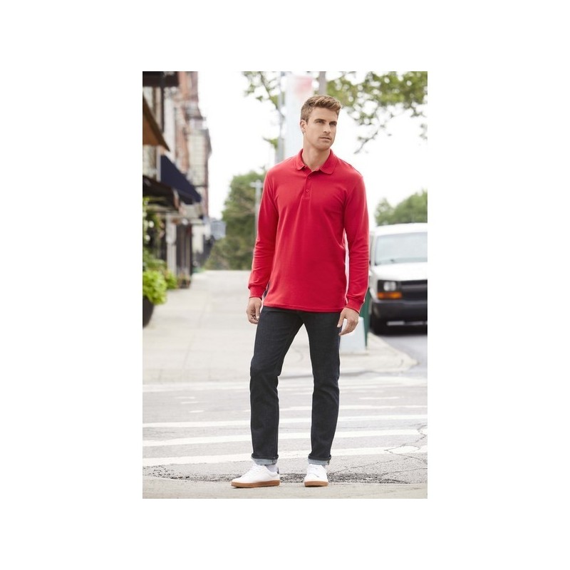 Premium Cotton Ls - Polo manches longues - Blanc - 3XL à prix grossiste - Polo manches longues à prix de gros