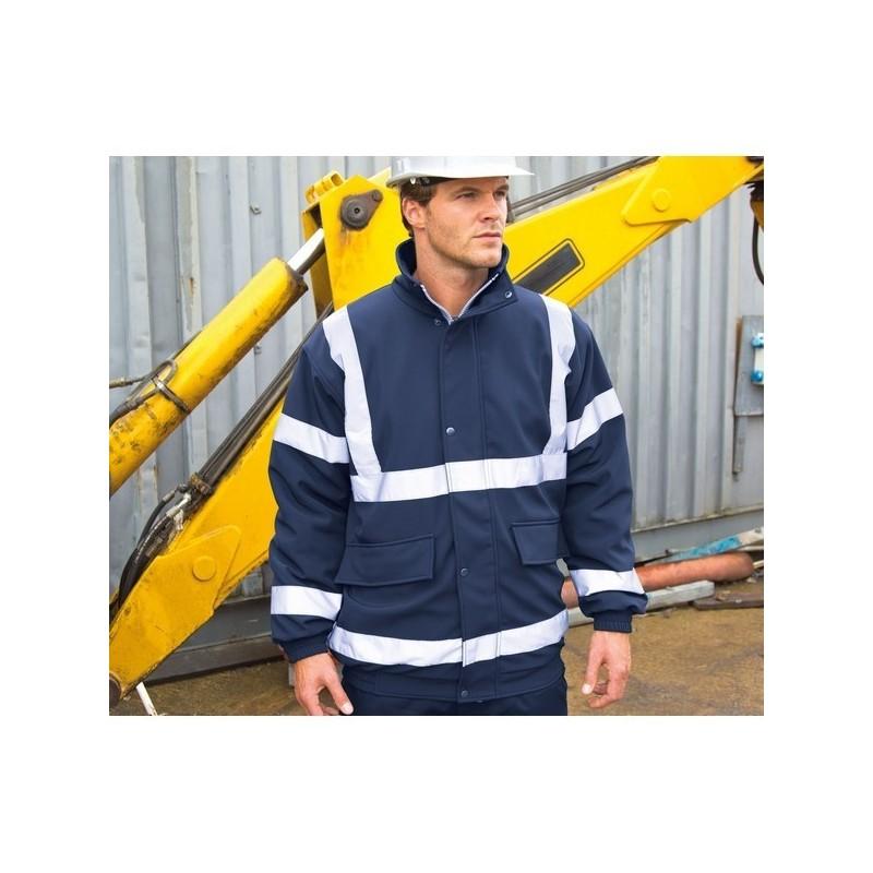 Safety Padded Soft-Shell Blouson - Blouson rembourré Soft-Shell de sécurité à prix de gros - Vêtement de sécurité à prix grossiste