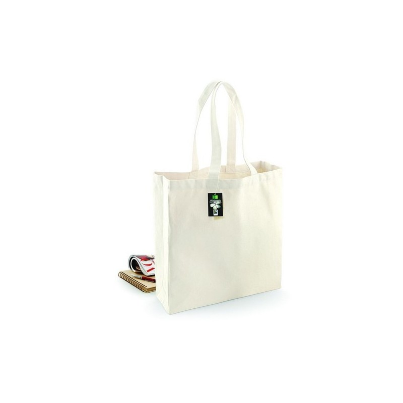 Fairtrade Cotton Classic Shopper - Sac shopping en coton issu du commerce équitable - Naturel à prix grossiste - Sac naturel à prix de gros