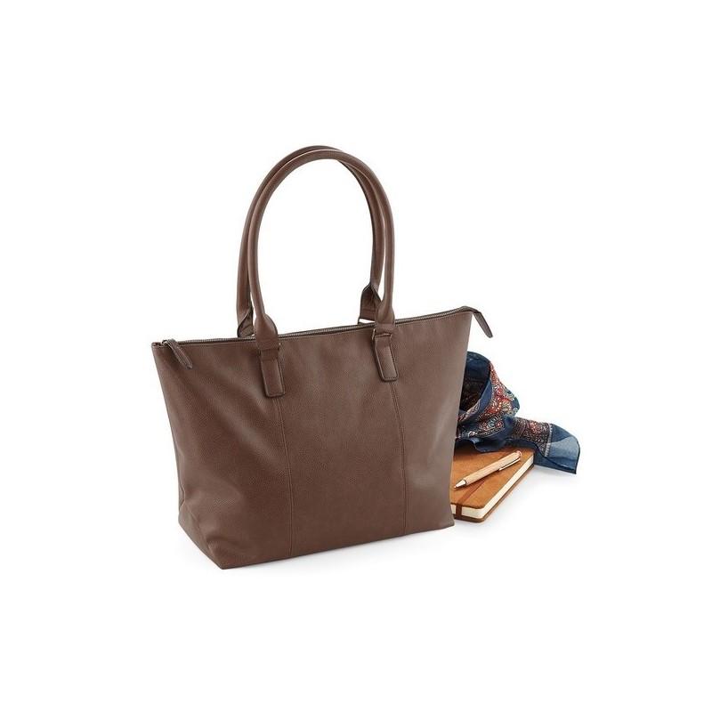Nuhide Tote Bag - Sac shopping aspect cuir pleine fleur - Sac à prix grossiste