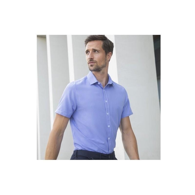 Men'S Gingham Cofrex/Pufy Wicking S/S Shirt - à prix grossiste - Chemisette homme à prix de gros